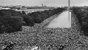 Historic photo of march on Washington CD in 1963