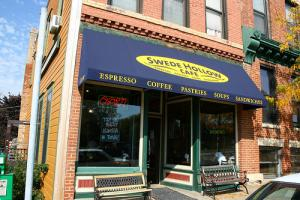 Front of Swede Hollow coffee shop