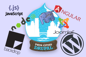 Collage of open source logos
