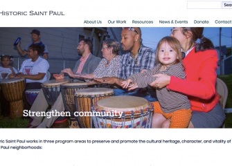 Image of Saint Paul neighbors beating on drums
