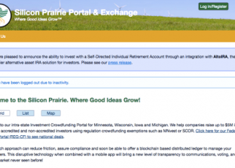 Front page of Silicon Prairie Portal and Exchange website